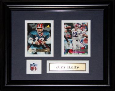 Jim Kelly Buffalo Bills 2 card frame