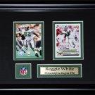 Reggie White Philadelphia Eagles 2 card frame
