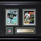 Randal Cunningham Philadelphia Eagles 2 card frame