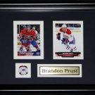 Brandon Prust Montreal Canadiens NHL 2 Card Frame