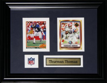 Thurman Thomas Buffalo Bills 2 card frame