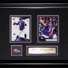Joe Flacco Baltimore Ravens NFL 2 card frame