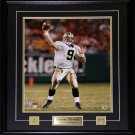 Drew Brees New Orlean Saints Signed 16x20 frame