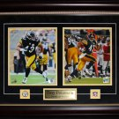 Troy Polamalu Pittsburgh Steelers signed 2 photo frame