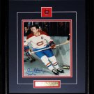 Jean Beliveau Montreal Canadiens action movement signed 8x10 frame