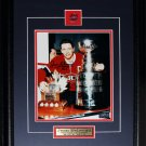 Jean Beliveau Montreal Canadiens Stanley Cup trophies signed 8x10 frame