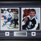 Wendel Clark Toronto Maple Leafs signed 2 photo frame