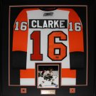 Bobby Clarke Philadelphia Flyers signed jersey frame