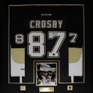 Sidney Crosby Pittsburgh Penguins signed jersey frame