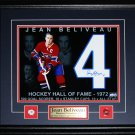 Jean Beliveau Montreal Canadiens signed 11x14 frame