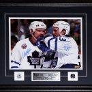 Doug Gilmour & Wendel Clark Toronto Maple Leafs signed 11x14 frame