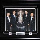 Henri Richard Guy Lafleur Jean Beliveau Yvan Cournoyer Stanley Cup signed 16x20