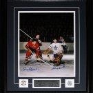 Jean Beliveau & Johnny Bower Signed 11x14 frame