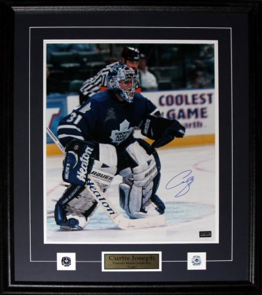 Curtis Joseph Toronto Maple Leafs signed 16x20 frame