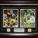 Aaron Rodgers Green Bay Packers signed 2 photo frame