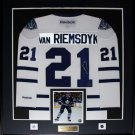 James Van Riemsdyk Toronto Maple Leafs signed white jersey frame