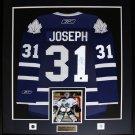 Curtis Joseph Toronto Maple Leafs signed jersey frame