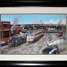 Toronto Train Station Track Vintage painting frame