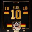 Pavel Bure Vancouver Canucks signed jersey frame