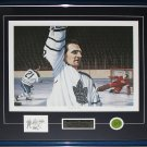 Bobby Baun Toronto Maple Leafs Broken Ankle Goal signed Painting frame