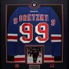 Wayne Gretzky New York Rangers jersey frame with signed 8x10
