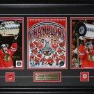 Jonathan Toews & Patrick Kane Chicago Blackhawks 2015 Stanley Cup 3 photo frame