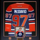 Connor McDavid Edmonton Oilers signed jersey frame