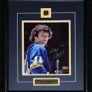 Gilbert Perreault Buffalo Sabres signed 8x10 frame