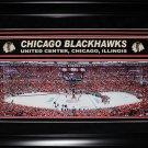Chicago Blackhawks United Center Panorama Deluxe Frame