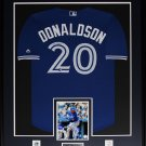 Josh Donaldson Toronto Blue Jays signed jersey frame