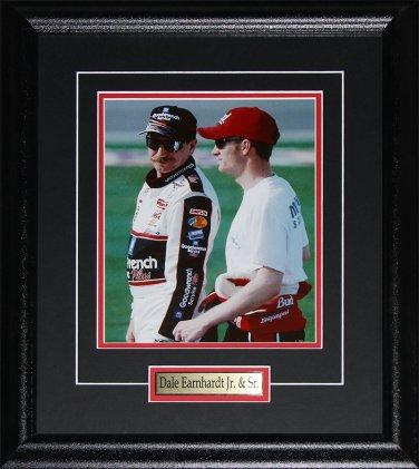 Dale Earnhardt Sr. & Jr. NASCAR racing 8x10 frame