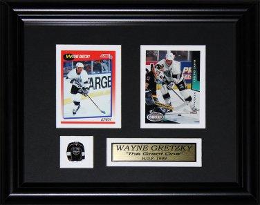 Wayne Gretzky Los Angeles Kings 2 card frame