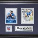 Matthew Stafford Detroit Lions 2 card frame