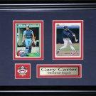 Gary Carter Montreal Expos MLB baseball 2 card frame