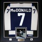 Lanny McDonald Toronto Maple Leafs signed jersey frame