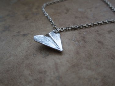 Harry Styles one direction band music paper airplane necklace *ships from USA!*