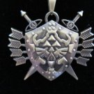 Legend of Zelda Necklace Pendant Metal Triforce Chain Arrow and Shield
