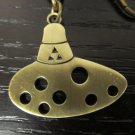 Free Ship The Legend Of Zelda: Ocarina Of Time Bronze Ocarina Pendant Key Chain