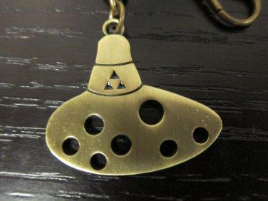 Free Ship The Legend Of Zelda: Ocarina Of Time Bronze Ocarina Pendant Key Chain
