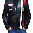 Steve McQueen Le Mans Driver Grandprix Gulf Vintage Leather Jacket