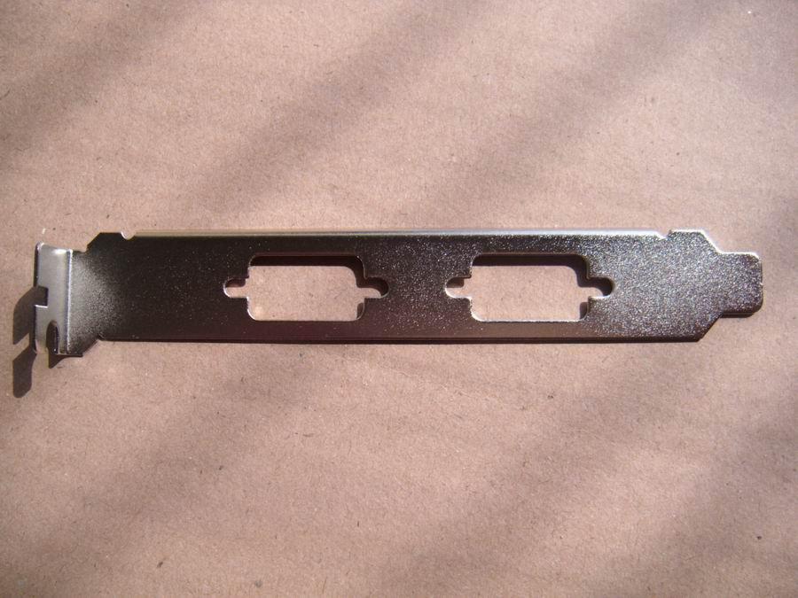 for dell lenovo hp acer PCI Dual VGA DB9 Serial Cover Bracket Nickel
