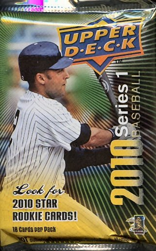 2010 Upper Deck Series 1 Baseball Pack of 18 Cards Factory Sealed S1 BB