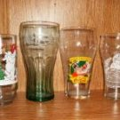 FOUR CHRISTMAS GLASSES