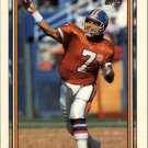 1992 Topps #125 John Elway UER/(Card says 6-year/vet, should be 9) Error Card