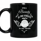 Baseball-i'm a beauty in the streets and a beast in my cleats Coffee Mug_Black
