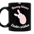Bunny kisses easter wishes Coffee Mug_Black