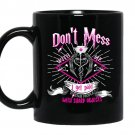 Don't mess with me i get pad to stab people with sharp objects - Nurse Coffee Mug_Black