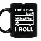 That's how i roll coffee Mug_Black Book lover