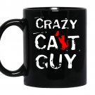 Crazy cat guy Coffee Mug_Black