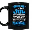 God made a marine coffee Mug_Black